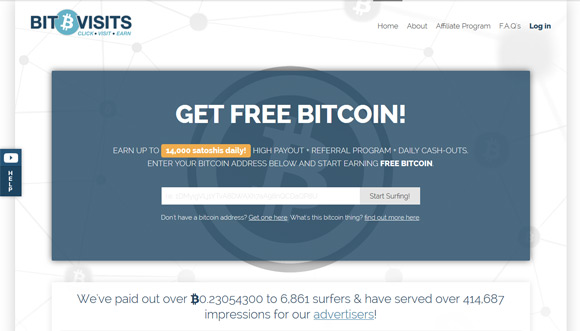 Get Paid in Bitcoins to Visit Websites with BitVisits