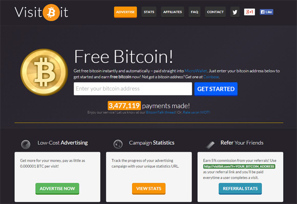 Free bitcoins for visiting sites proof of existence bitcoins