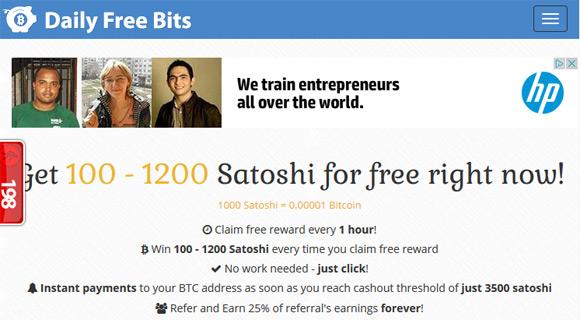Daily Free Bits - 1stCrypto com