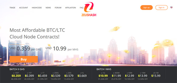zeushash-cloud-mining-service