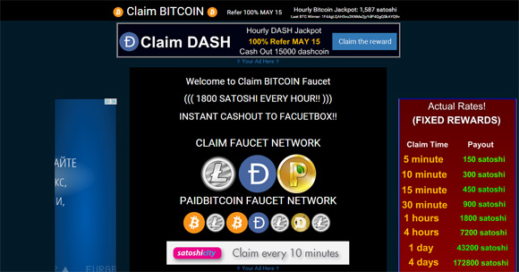 Earn Free Bitcoins from the Claim Bitcoin Faucet - 1stCrypto com
